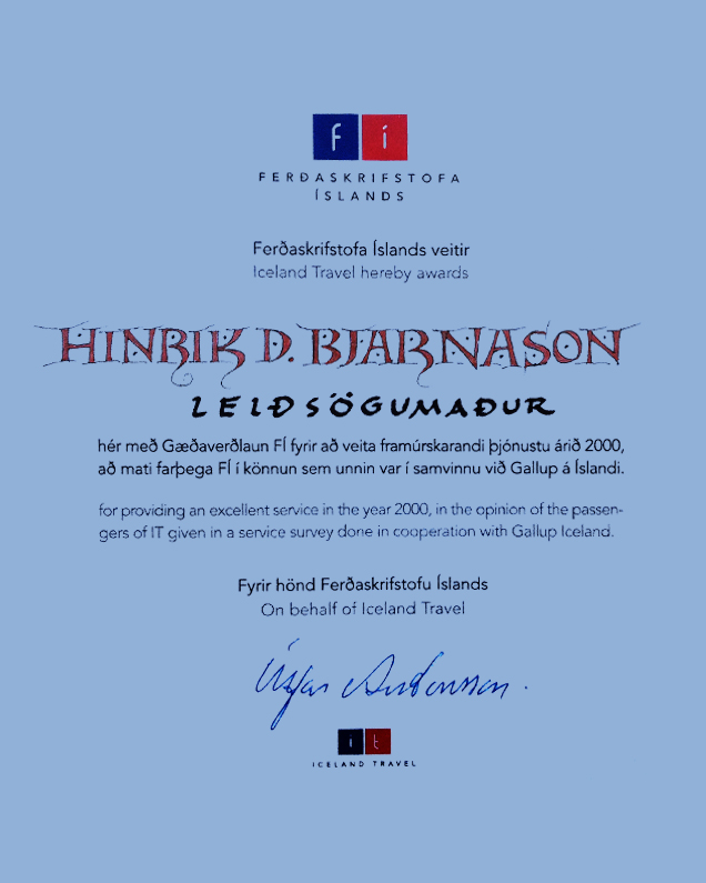 Hinrik D. Bjarnason Travel Award